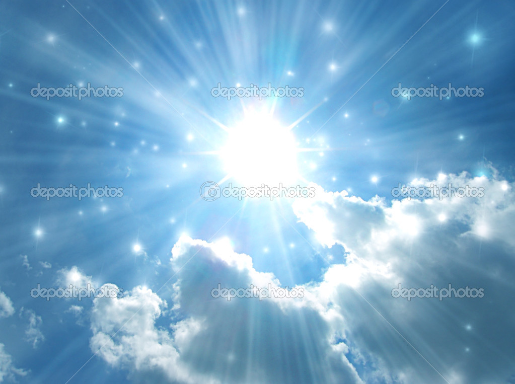 Shining stars in the pure blue sky — Stock Photo #1337741