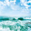 Sea waves and the blue sky - Stock Photo