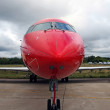 Stock Photo: Red jet plane