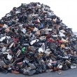 Royalty-Free Stock Photo: Heap of old footwear