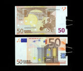 A note is fifty euros — Stock Photo