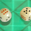 Two quartz digital dices - Stock Photo