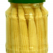 Pickled baby corn cobs — Stock Photo