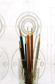 Tužky ve sklenici — Stock fotografie
