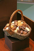 Basket with sweets — Stock Photo