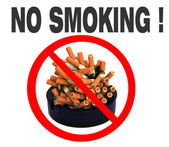 Zakaz palenia! — Zdjęcie stockowe