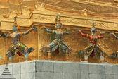Decor in Thailand temple — Stock Photo