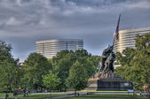 Iwo Jima Memorial HDR — Stock Photo