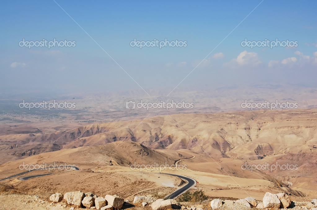 The view from the top of Mount Nebo, Jordan — Stock Photo #1346299