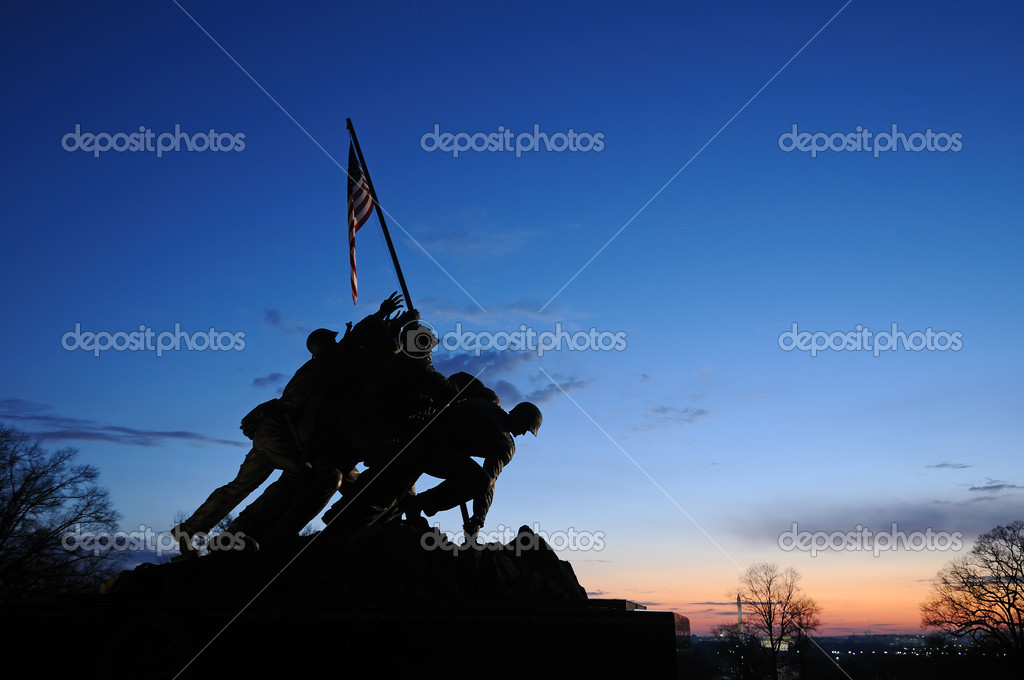 The Iwo Jima Memorial in Arlington, VA  Stock Photo #1348042