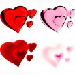 Beautiful hearts - Stock Photo