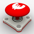 Red start button — Stock Photo