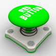 Green start button — Stock Photo
