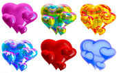 Beautiful hearts — Stock Photo