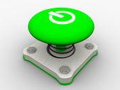Green start button — Stock Photo