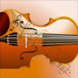 Grunge style violin background — Stock Photo #1345741