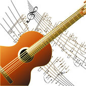 Grunge style guitar background — Stock Photo