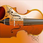 Grunge style violin background — Stock Photo