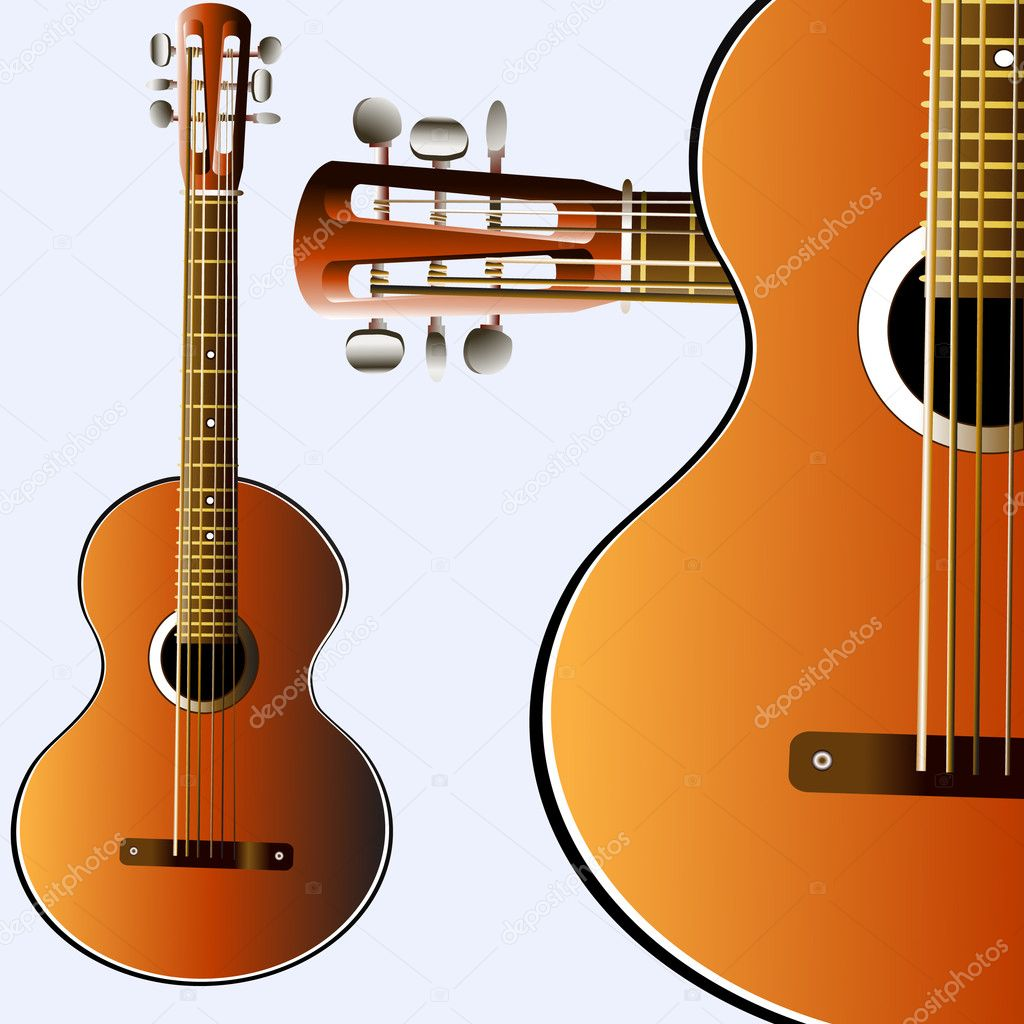 Grunge style guitar background — Stock Photo #1343020