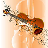 Grunge style violin background — Stock Photo