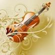 Violin background — Stock Photo