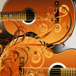 Stock Photo: Grunge style guitar background