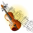 Violin background - Stock Photo