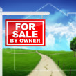 For Sale by Owner. Sign — Stock Photo