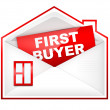 Envelop - First Buyer — Stock Photo