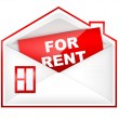 Envelop - For Rent — Stock Photo