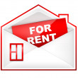 Stock Photo: Envelop - For Rent