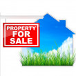 Sign - Property For Sale — Stock fotografie