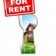 Stock Photo: For Rent Sign