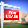 Sign - For Lease — Stock Photo
