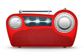 Red Radio — Stock Photo