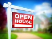 Sign - Open House — Stock Photo