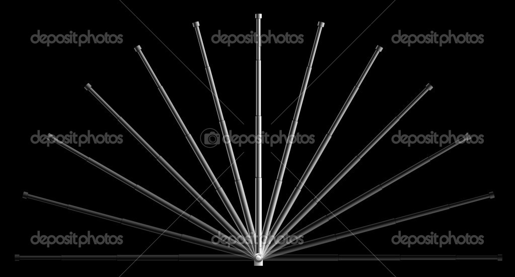 Radio Antenna on the black background. 2D Design. Computer Graphics — Stock Photo #1340551