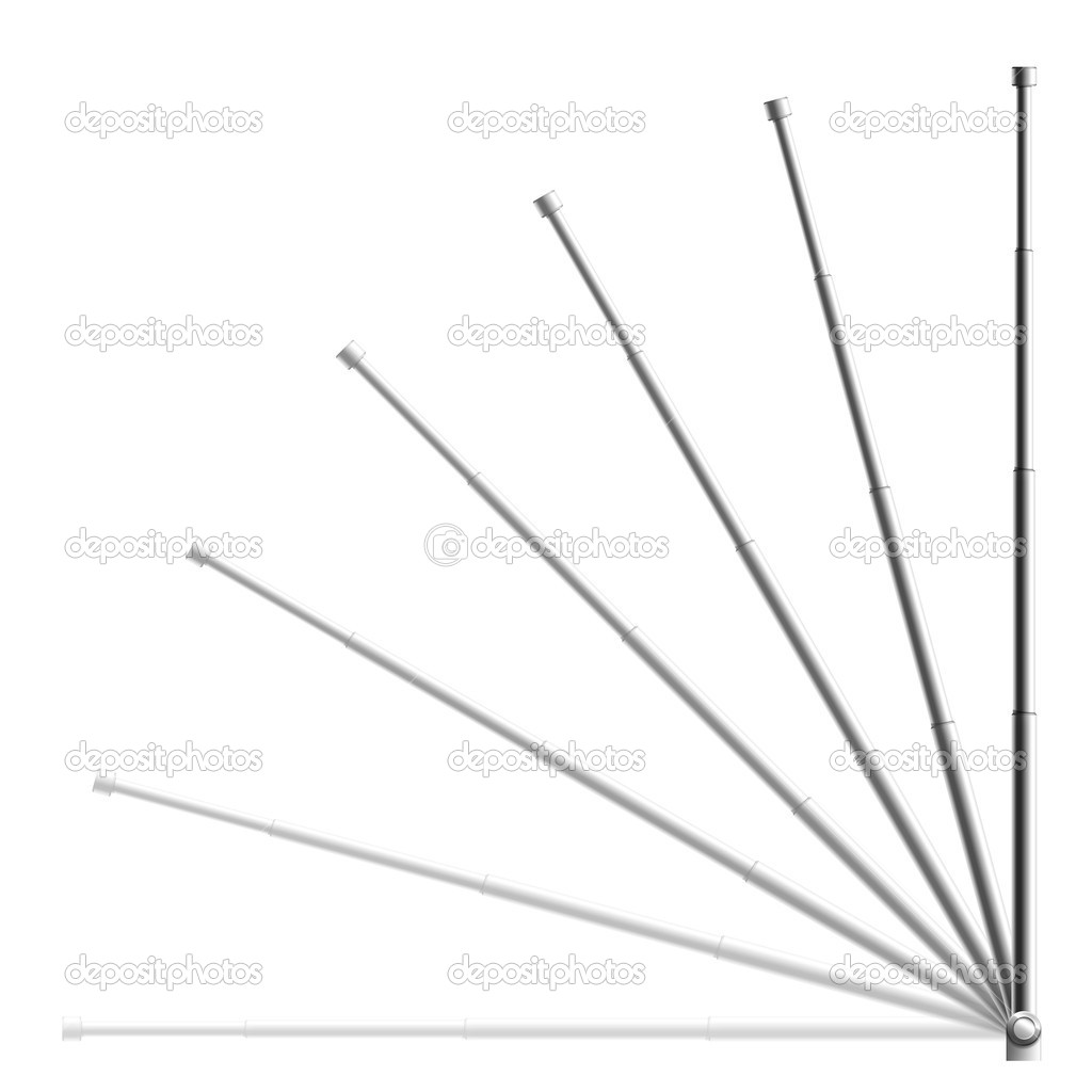 Radio Antenna on the black background. 2D Design. Computer Graphics  Stock Photo #1340557