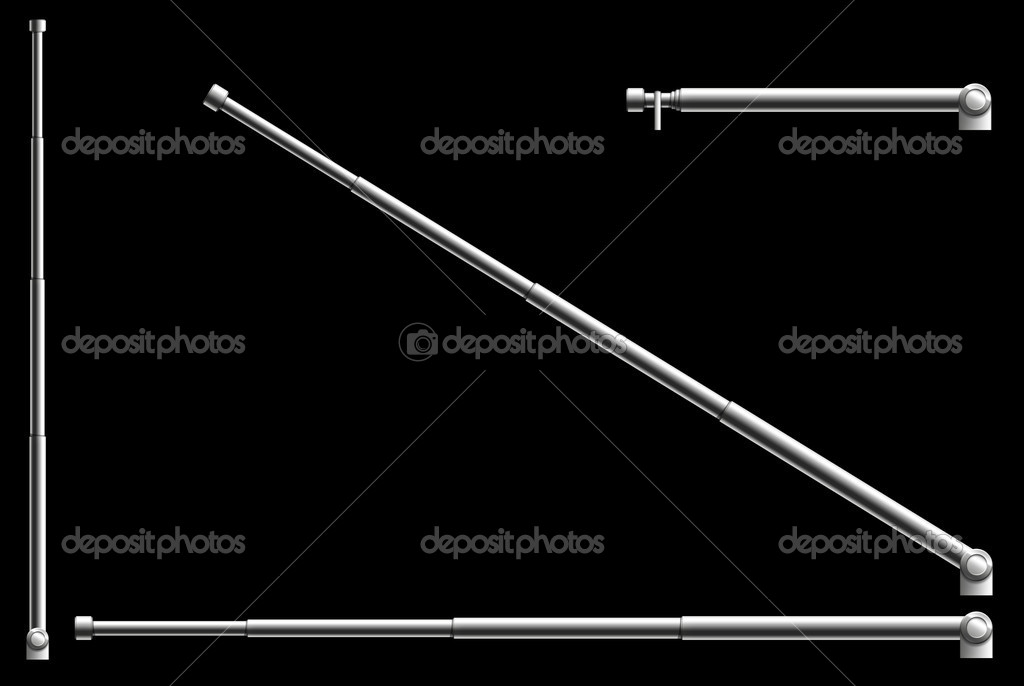 Radio Antenna on the black background. 2D Design. Computer Graphics — Stock Photo #1340569