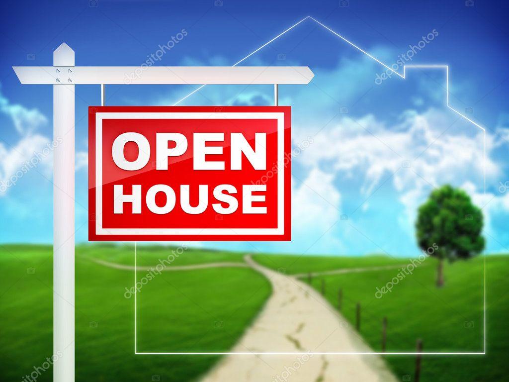 Sign open house stock photo rastudio 1348028 for Open house photos