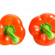 Two peppers - Stock Photo