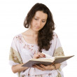 Young women reading book — Stock Photo
