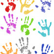 Colored hand prints — Stock Photo #1818847