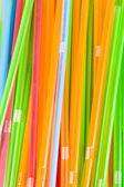 Bunch of multicolored straws — Stock Photo