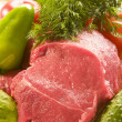Stock Photo: Meat with vegetables