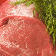 Meat with dill — Stock Photo