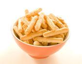 Breadsticks in bowl — Stock Photo