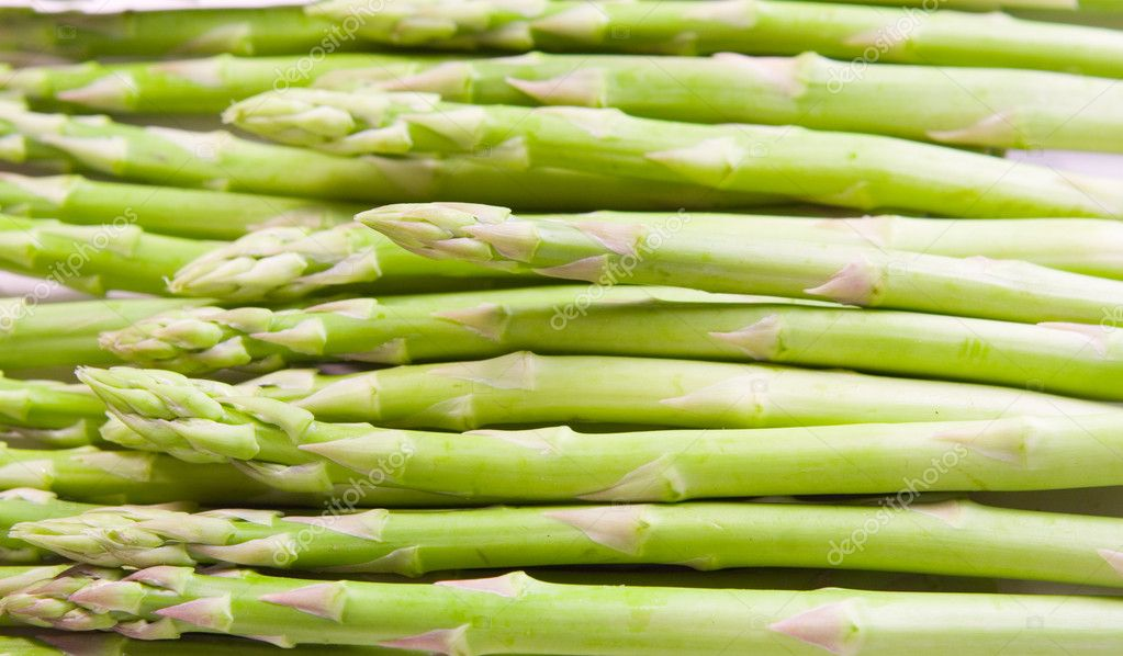 Background of green asparagus  Stock Photo #1899859
