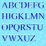 Set - ice letters — Stock Photo