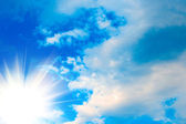 White clouds and sky in blue sky — Stock Photo